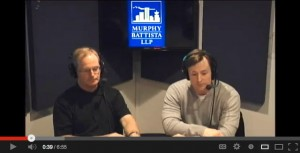 "Joe Murphy Q.C. and Scott Stanley at the taping of AM 650's new show ""You and the Law"""