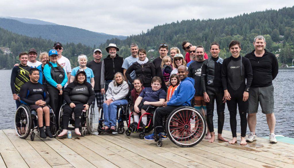 Adaptive water skiers