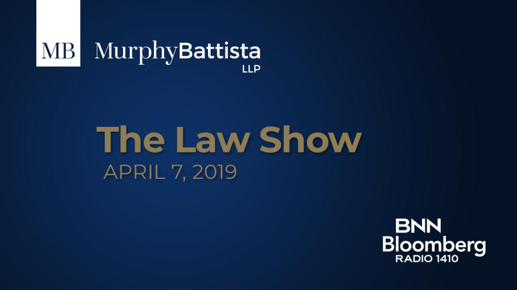 The Law Show - April 7: The New Minor Injury Claim Cap and the Civil Resolution Tribunal